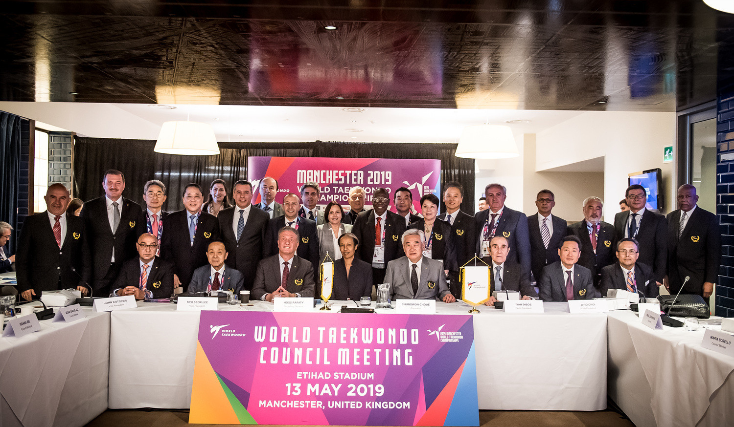The World Taekwondo Council meeting was held in Manchester in the build-up to the 2019 World Championships ©World Taekwondo