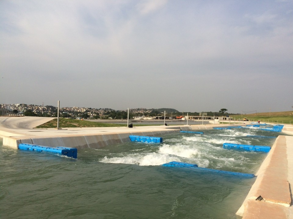 Preparations at Rio 2016 canoe slalom venue