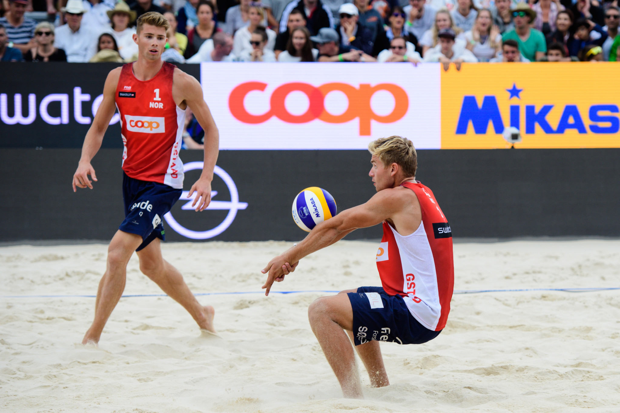 Norway's Anders Mol and Christian Sørum top the men's world rankings ©FIVB
