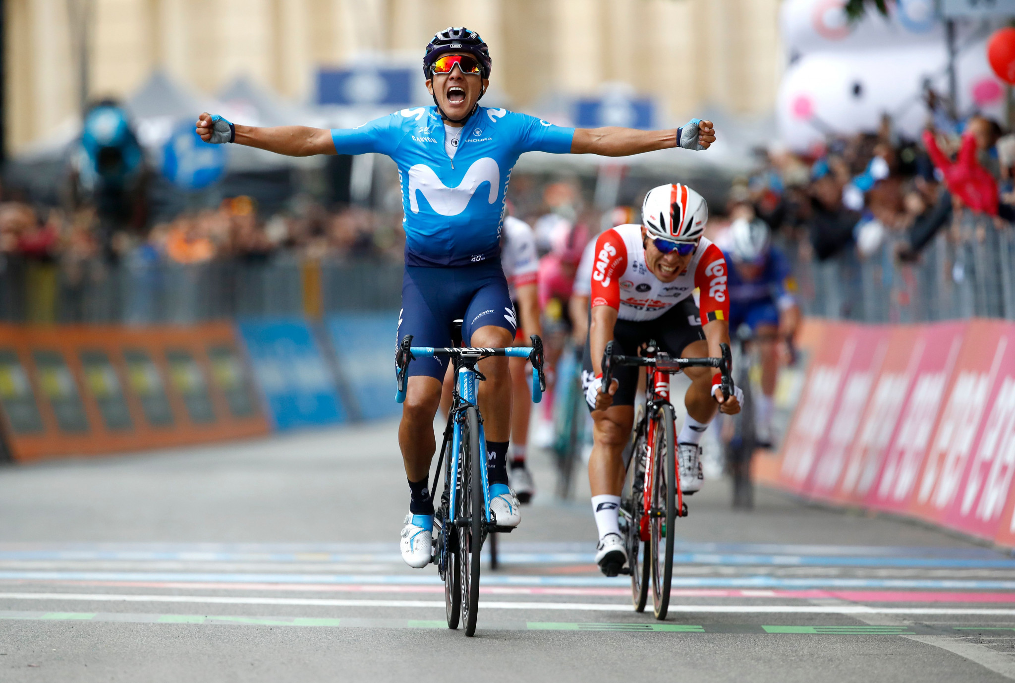 Ecuador's Richard Carapaz wins a dramatic fourth stage at the Giro d'Italia ©Getty Images