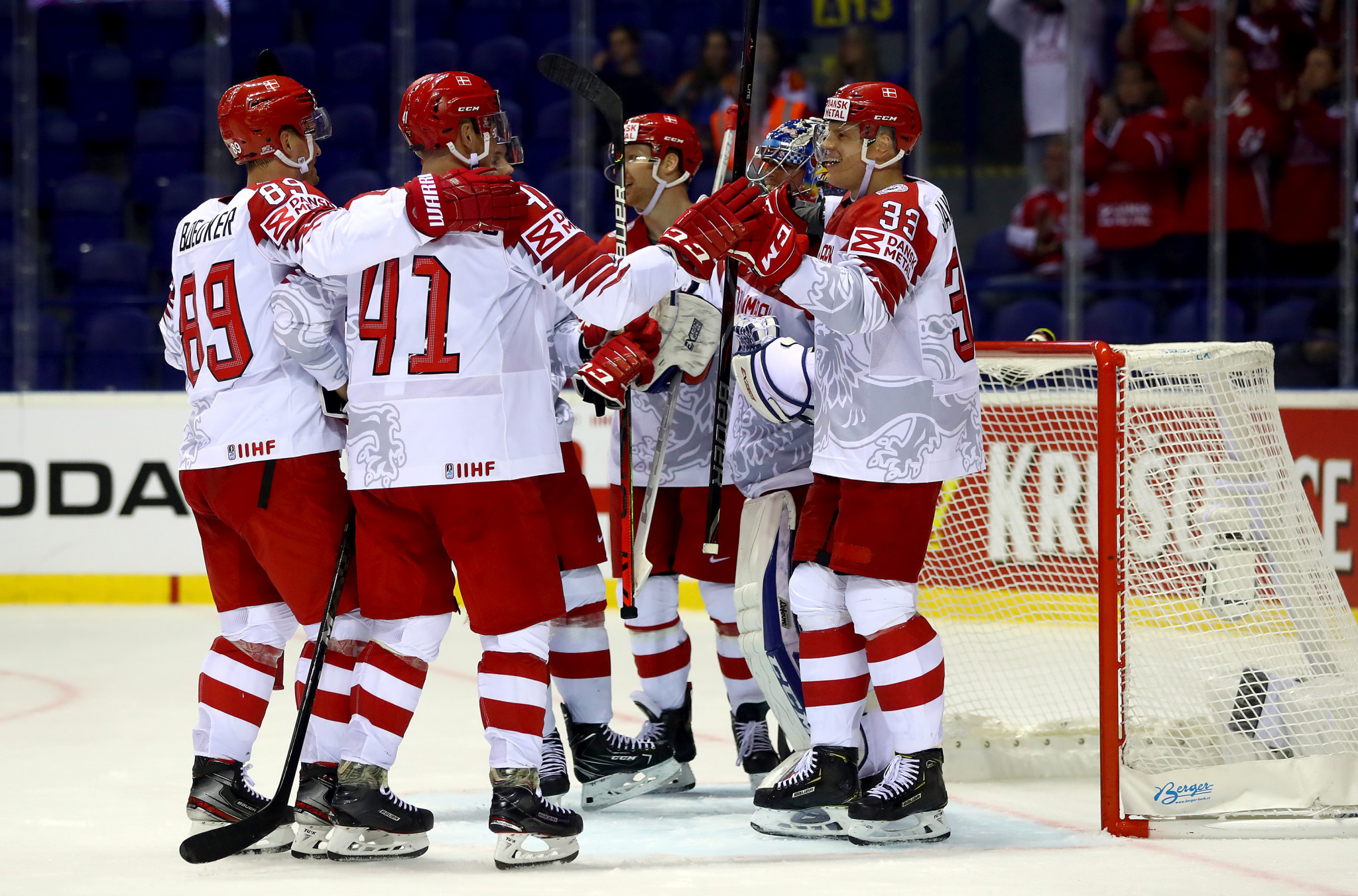 Denmark thrash Great Britain on day five of IIHF World Championship