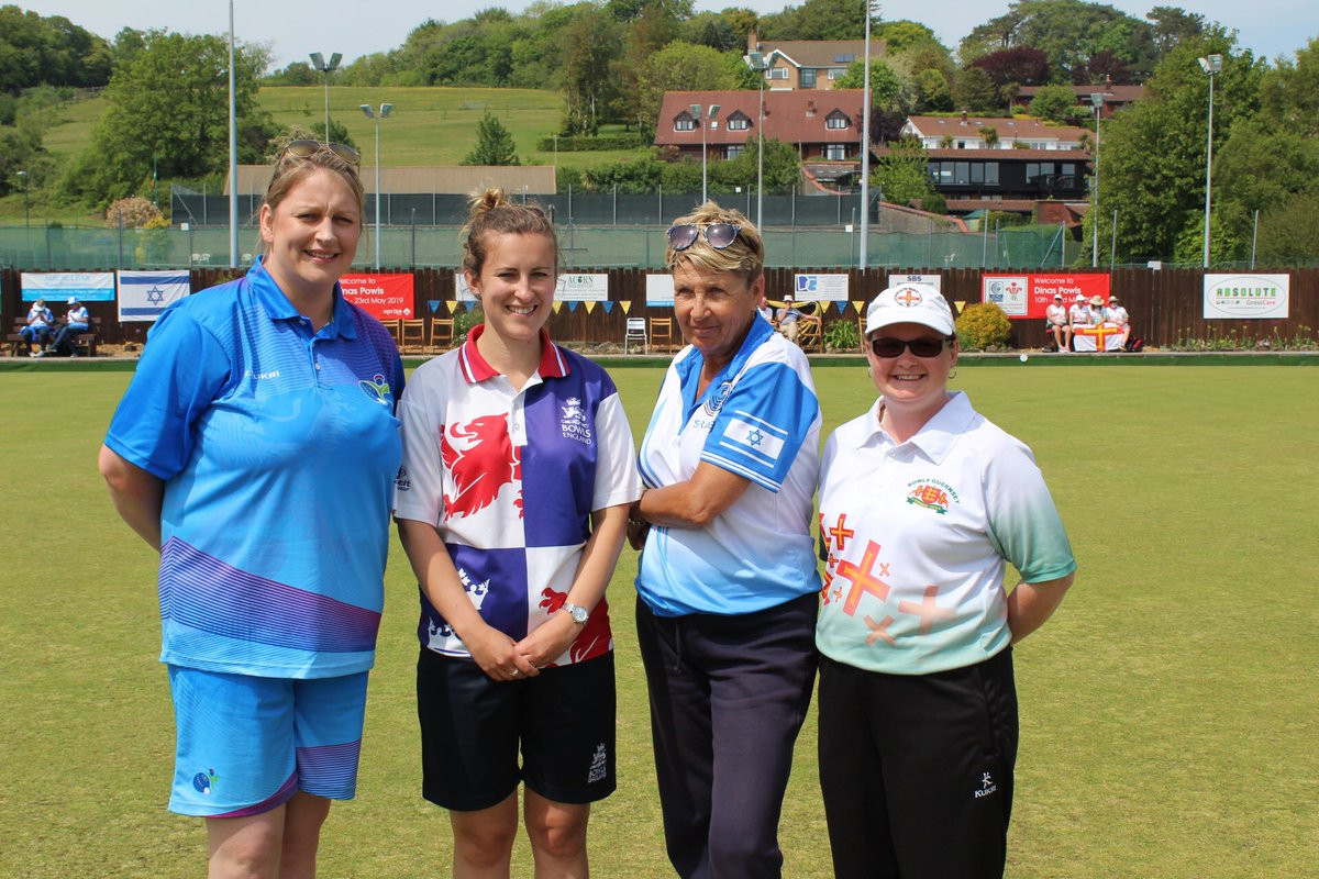 Guernsey's Lucy Beere and Israel's Ruti Gilor will meet in the women's singles final after coming through their last four-encounters at the World Bowls Atlantic Championships in Wales' capital Cardiff ©Bowls Guernsey/Twitter