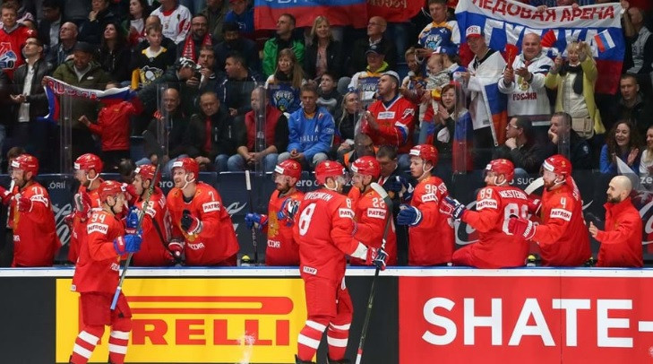 Olympic gold medallists Russia recorded their biggest win by thrashing Italy ©IIHF