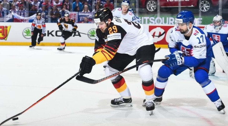 Germany beat Slovakia to maintain their perfect start to the tournament ©IIHF