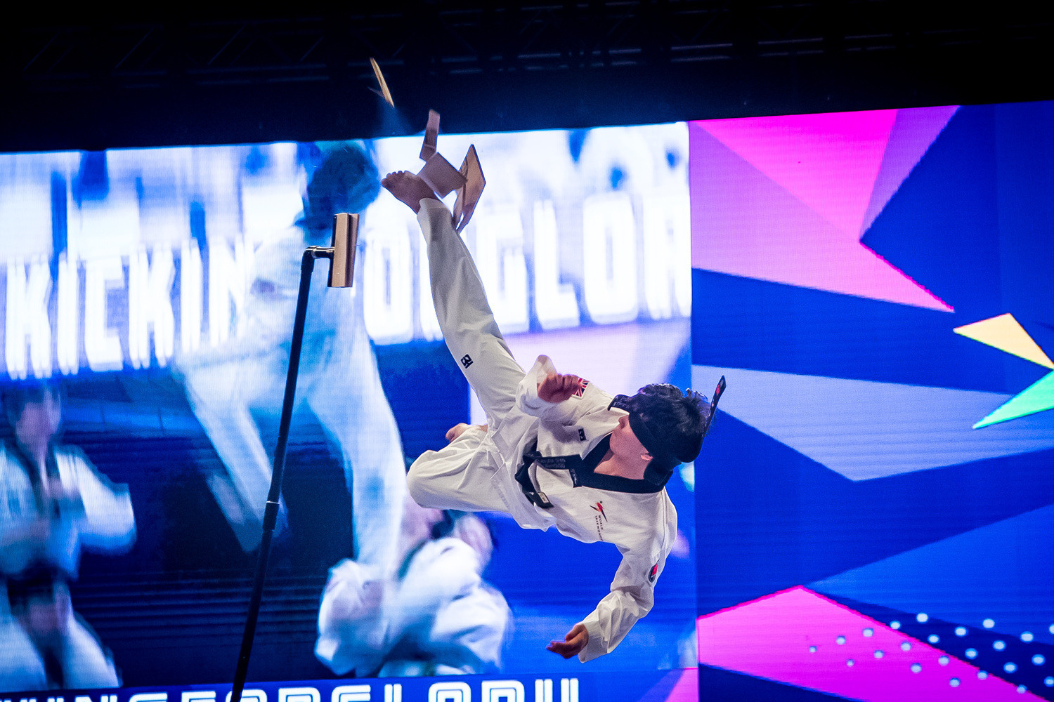 The World Taekwondo demonstration team performed at the 2019 World Taekwondo Championships Opening Ceremony ©World Taekwondo