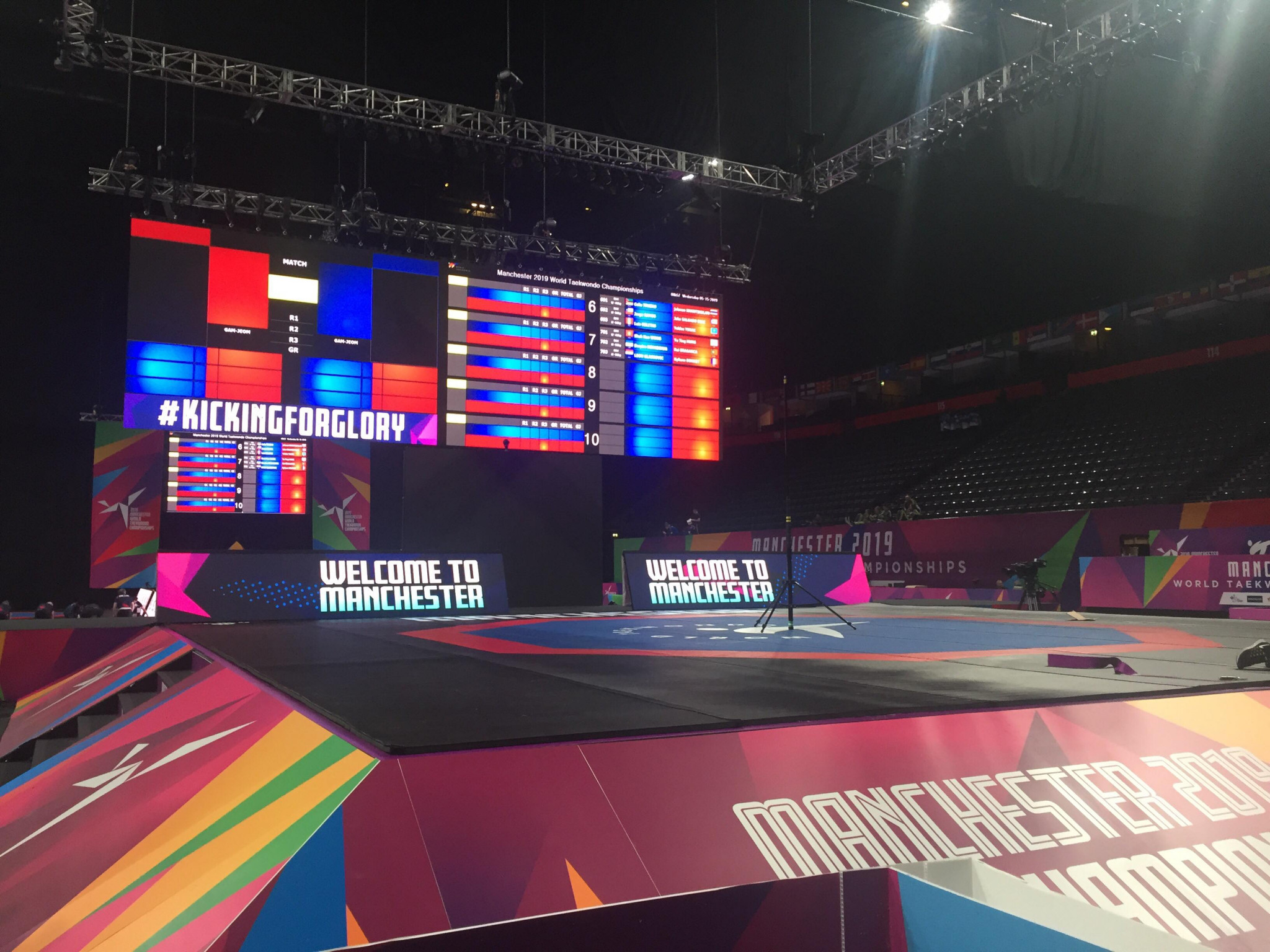 The Opening Ceremony was part of the first day of action at the World Championships, taking place at Manchester Arena ©ITG