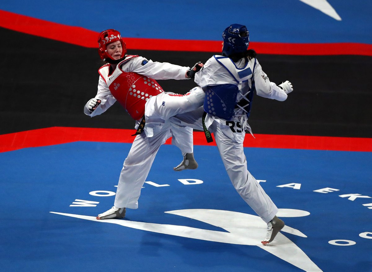 Home favourite Rebecca McGowan was the best performing British athlete of the day, reaching the quarter-finals ©GB Taekwondo