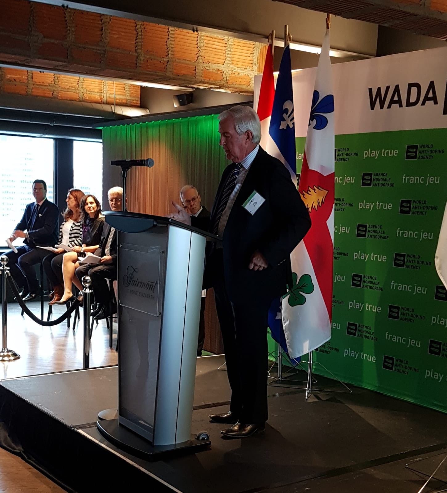 WADA celebrates extension of Montreal hosting agreement at Lennon hotel