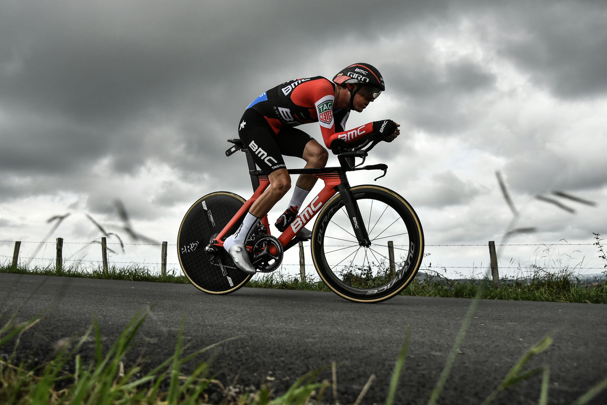 Tejay van Garderen retained the lead in the Tour of California - despite crashing ©Getty Images