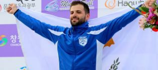 Andreas Makri of Cyprus won the ISSF Shotgun World Cup men's trap gold in Changwon ©ISSF