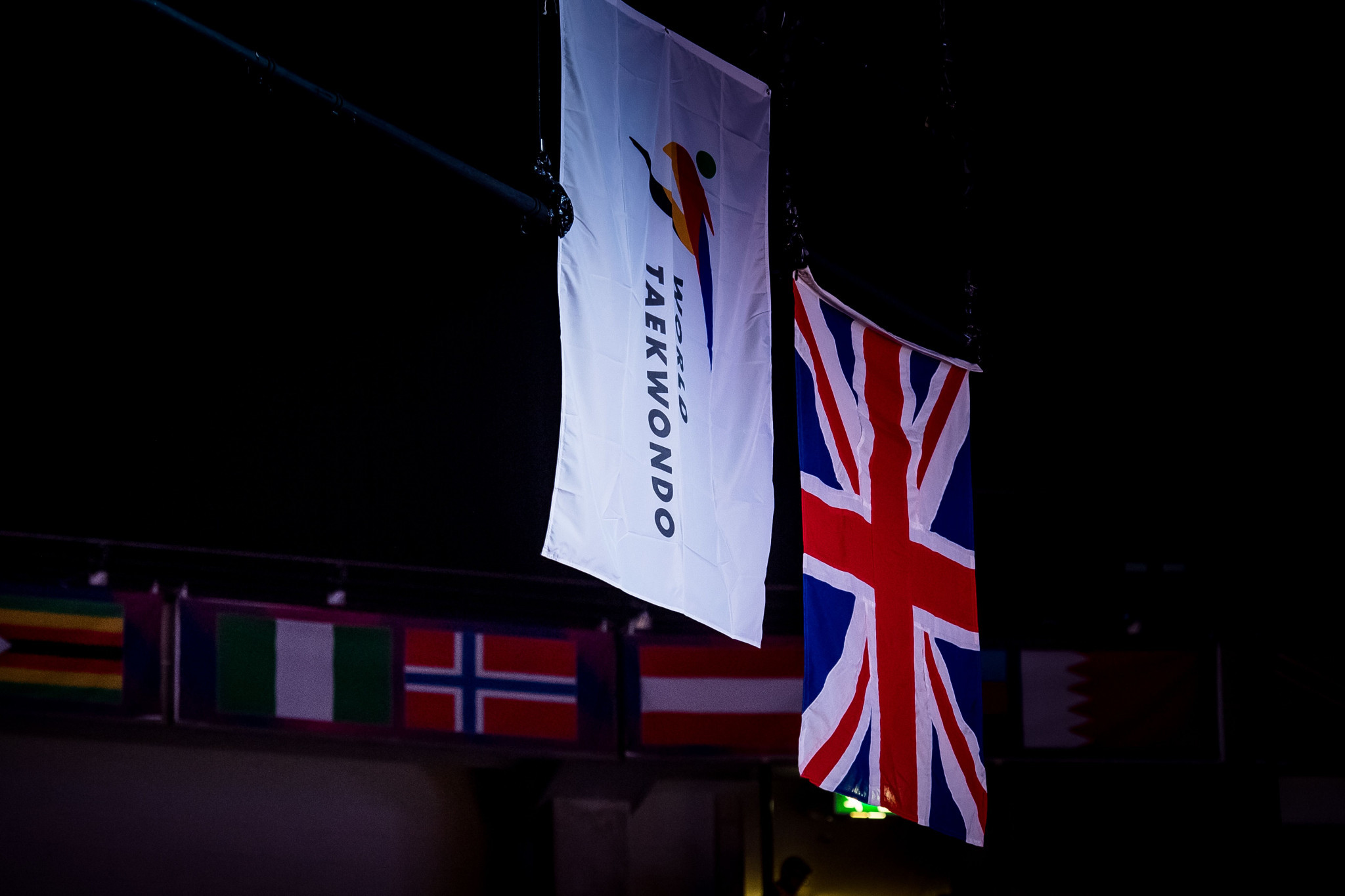 A refugee team is competing under the World Taekwondo flag at the World Championships ©World Taekwondo