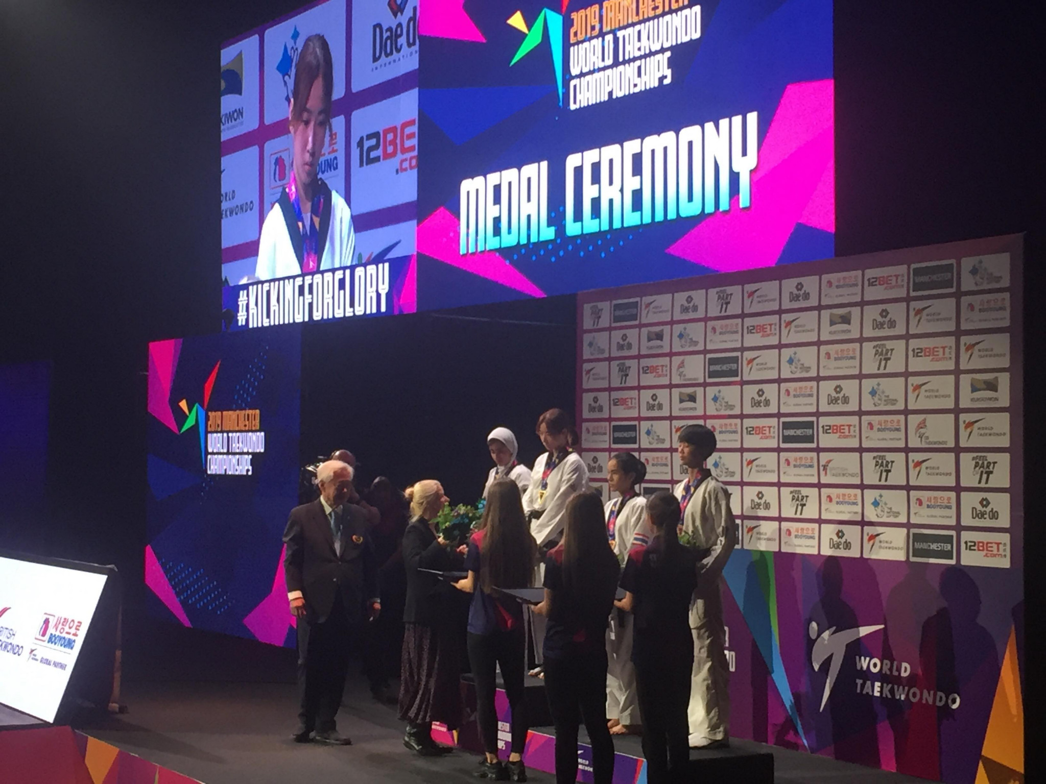 The first gold medals of the 2019 World Taekwondo Championships were awarded at Manchester Arena ©ITG