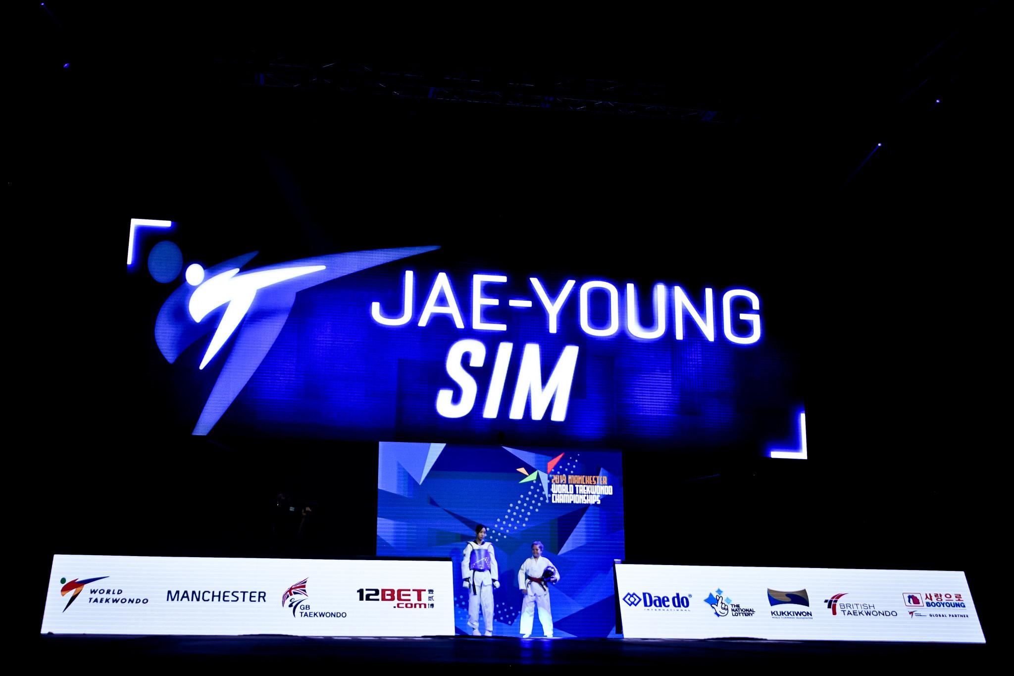 Sim Jae-young started a South Korean clean sweep, winning a second successive women's under-46kg world title ©World Taekwondo