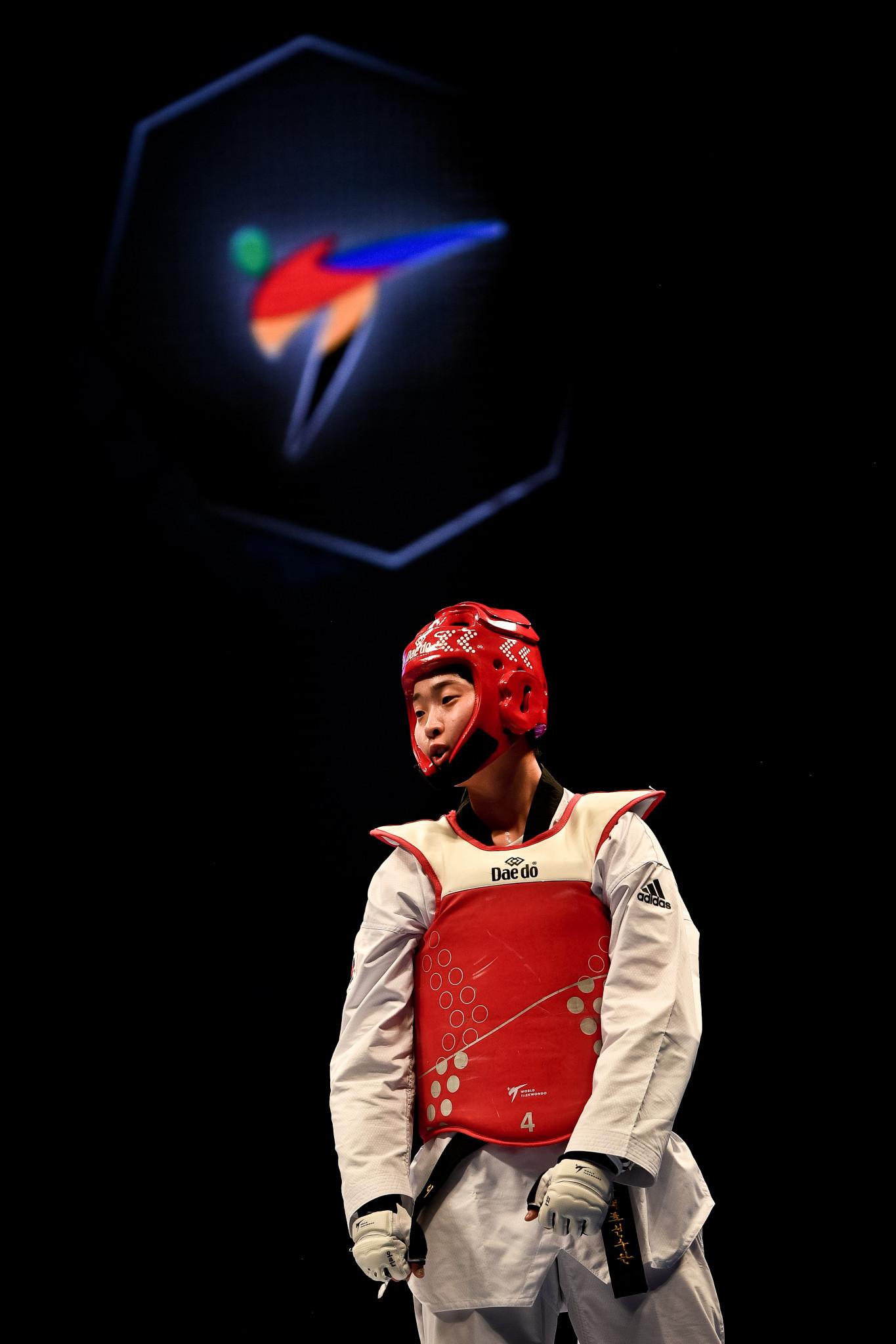 Lee Da-bin secured South Korea's third gold medal in the women's under-73kg final ©World Taekwondo