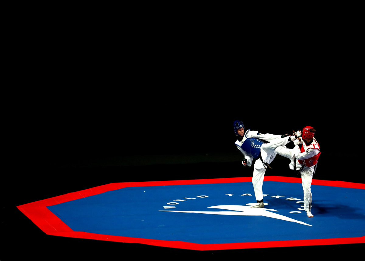 It was a successful day for the host nation, with Bianca Walkden reaching the final of the women's over-73kg ©GB Taekwondo