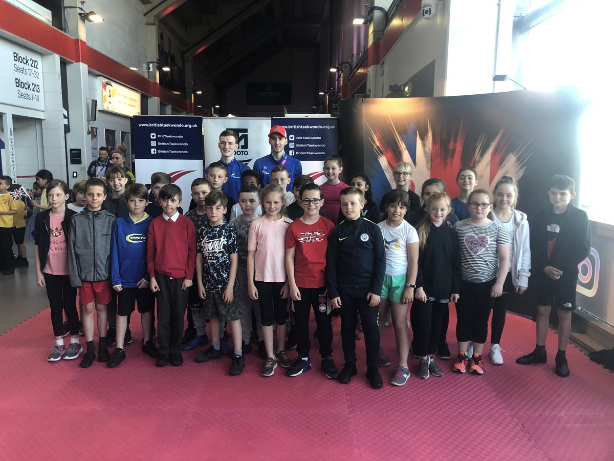 The presenters played games with the local schoolchildren in the audience, who had the chance to meet members of GB Taekwondo ©GB Taekwondo