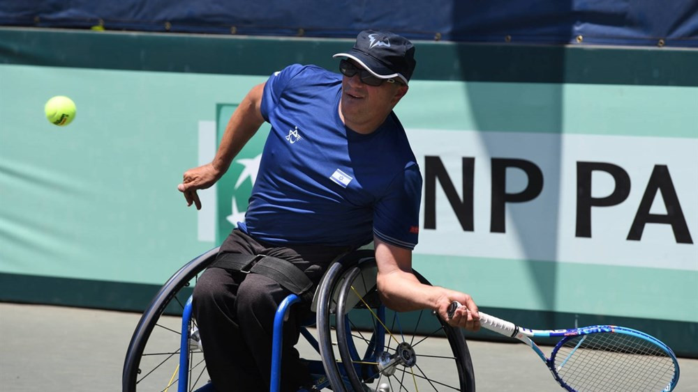 Former world number one Shraga Weinburg helped Israel reach the quad final at the ITF World Team Cup in Israel ©ITF