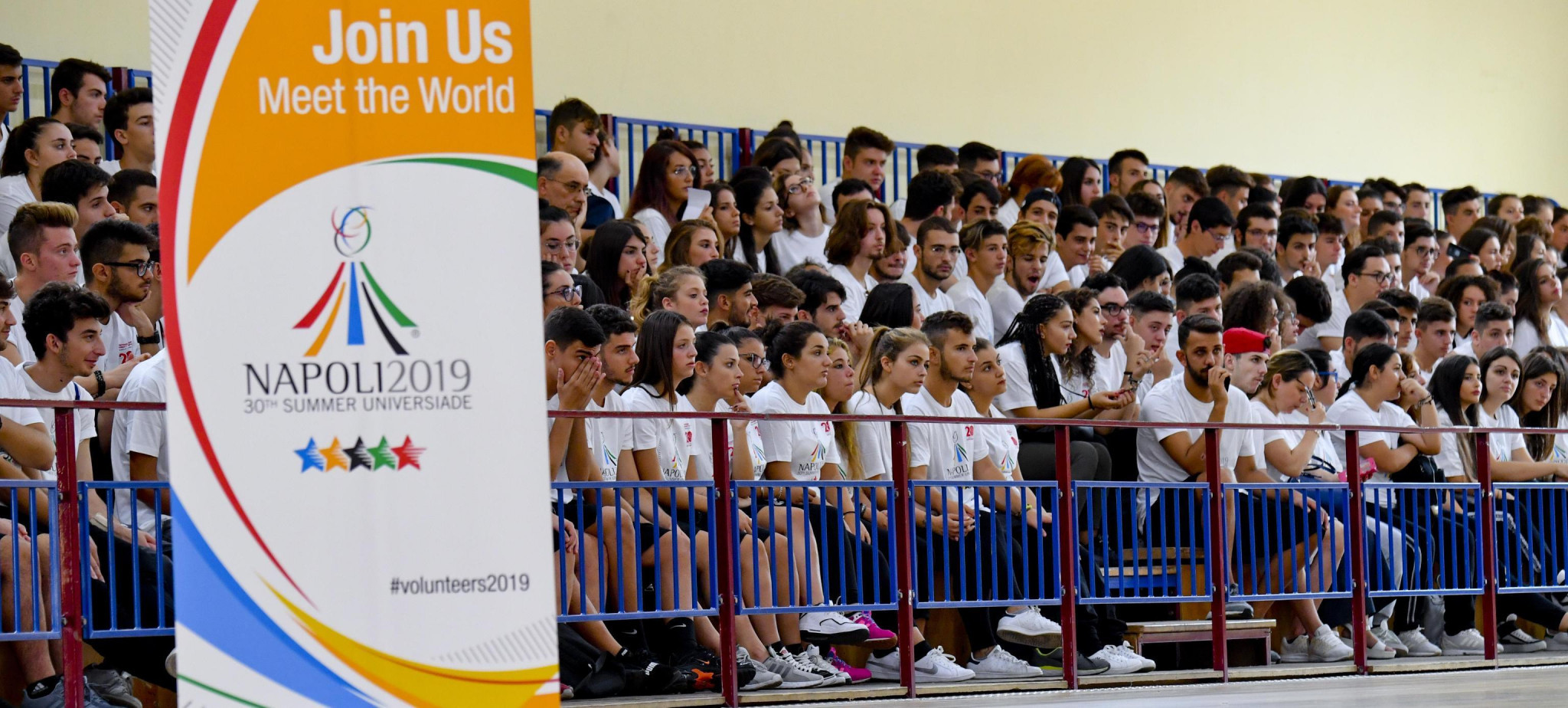 Naples 2019 has announced that as many as 5,000 people have applied to be volunteers at this year's Summer Universiade ©Naples 2019