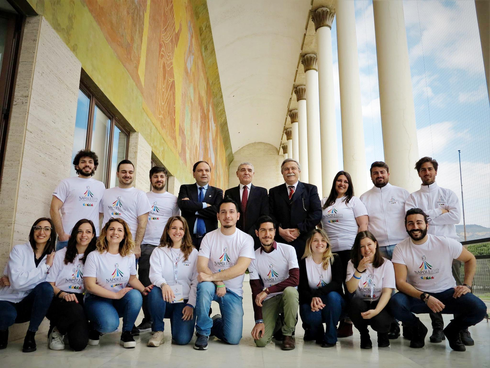 The campaign to recruit volunteers for the Naples 2019 Summer Universiade was launched in March ©Naples 2019
