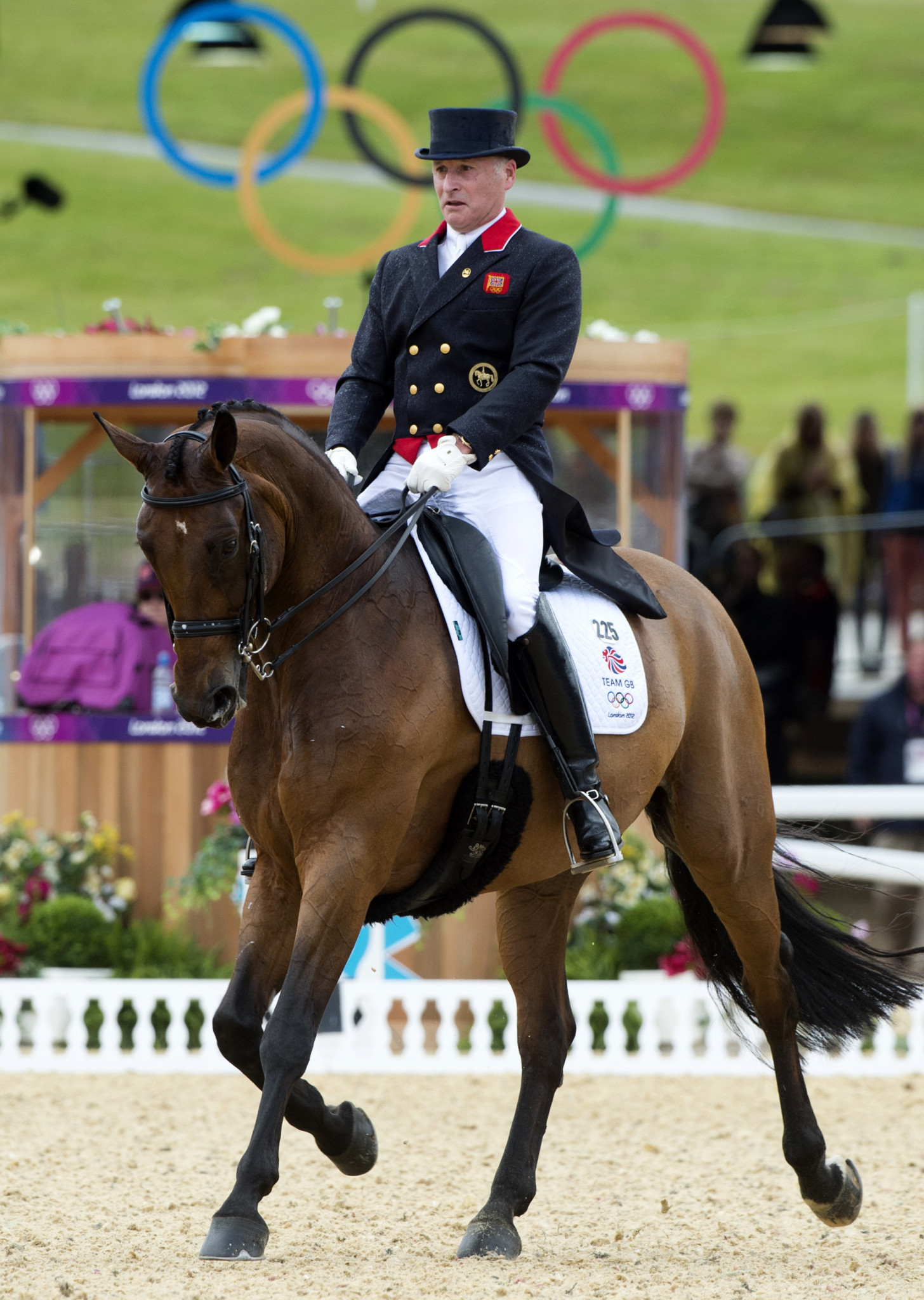Britain's 64-year-old triple Olympian Richard Davison is among those due to compete this weekend at the FEI Dressage Nations Cup in Compiègne, France ©Getty Images