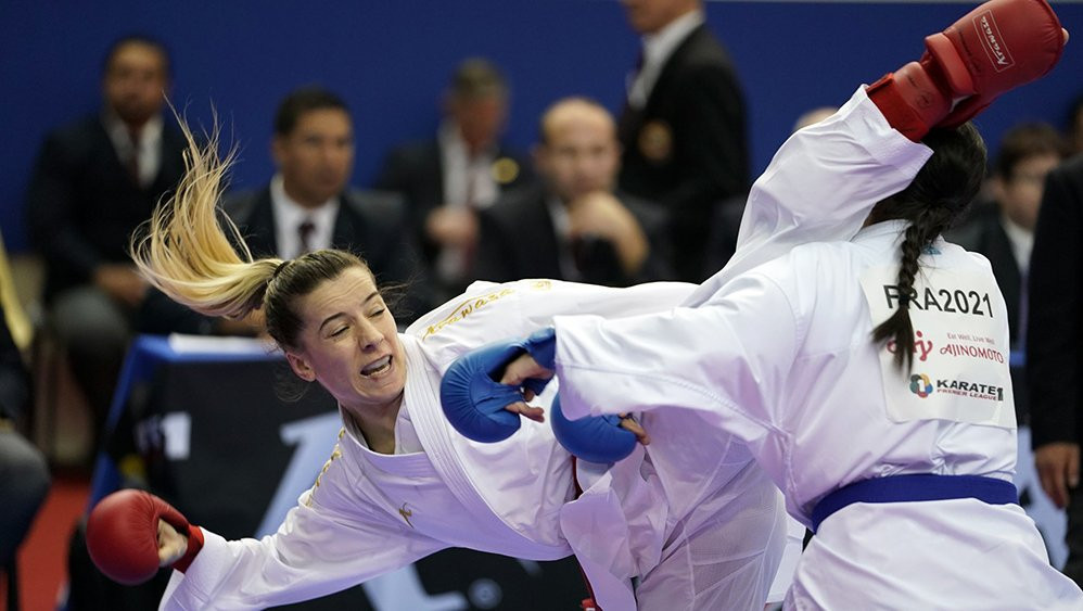 Serap Özçelik reached the final of the women's under-50 kilograms kumite division in Istanbul ©WKF