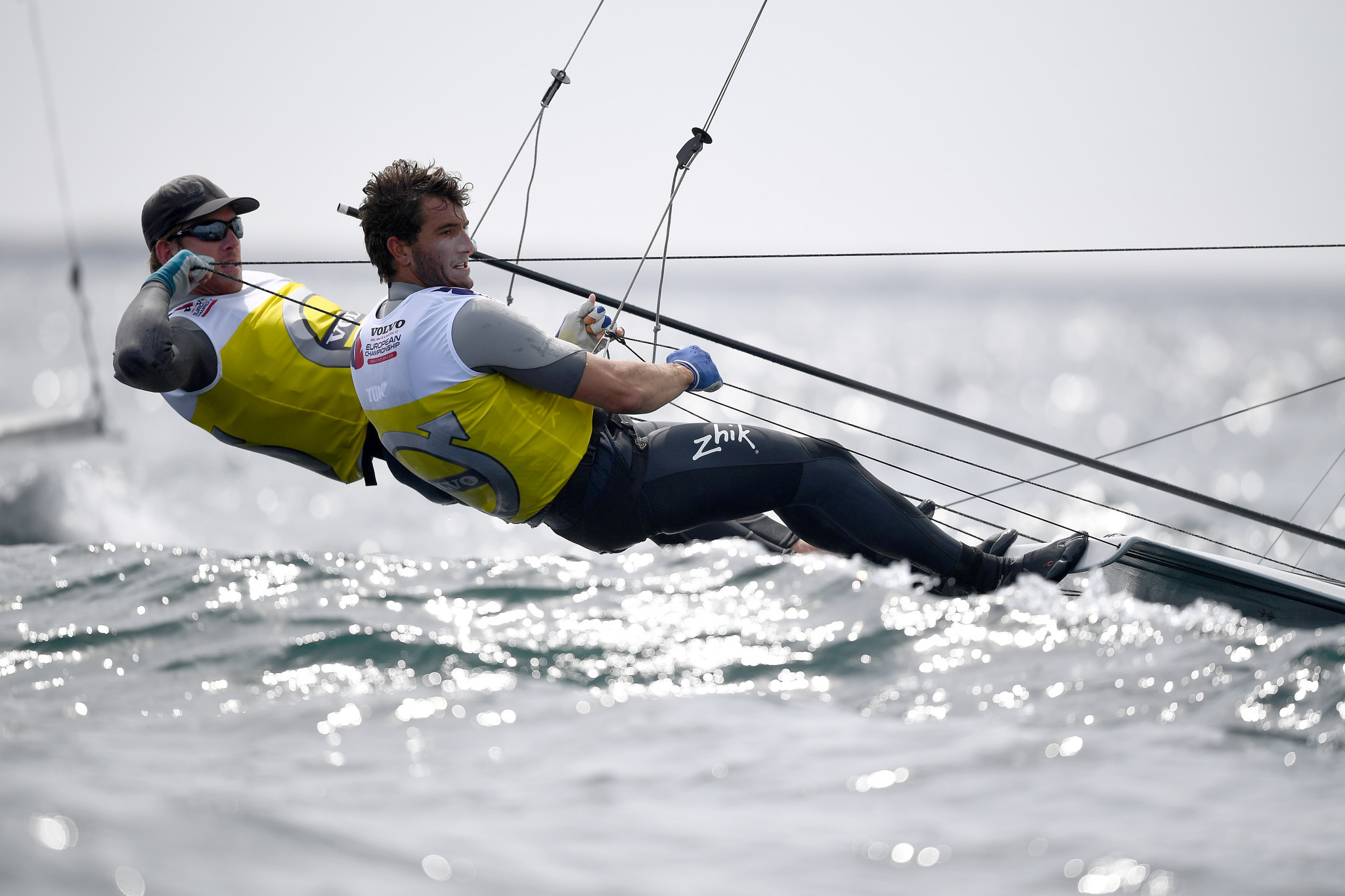New Zealand's Peter Burling and Blair Tuke posted three solid results today to retake the lead at the 49er European Championships in Weymouth in England ©Getty Images