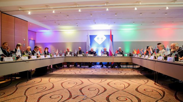 The crucial question of how to define and safeguard the European sports model was addressed once again at today's European Olympic Commitees Executive Committee meeting in Vienna ©EOC
