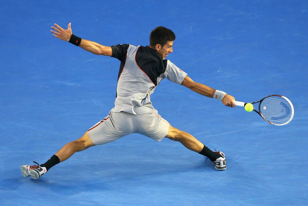 Tennis player Novak Djokovic is another great defensive-orientated athlete ©Getty Images