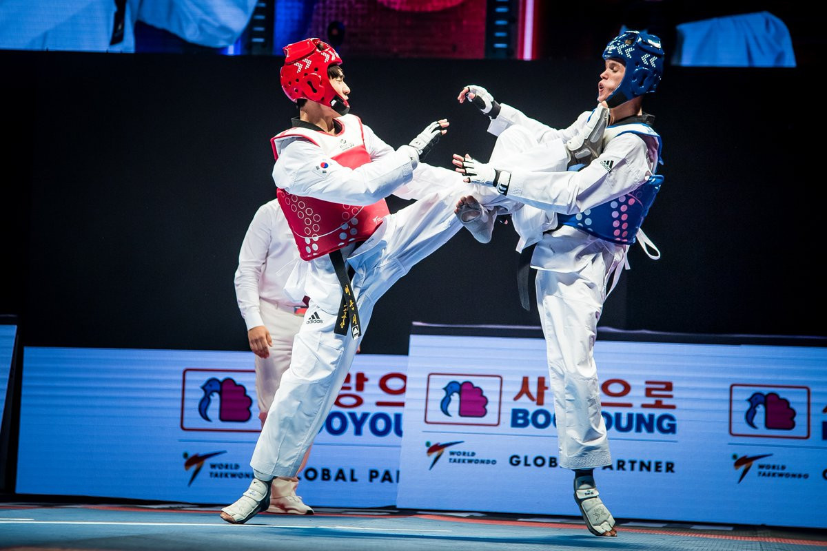 Bae Jun-seo won South Korea's fourth gold medal of the competition in the men's under-54kg final ©Getty Images