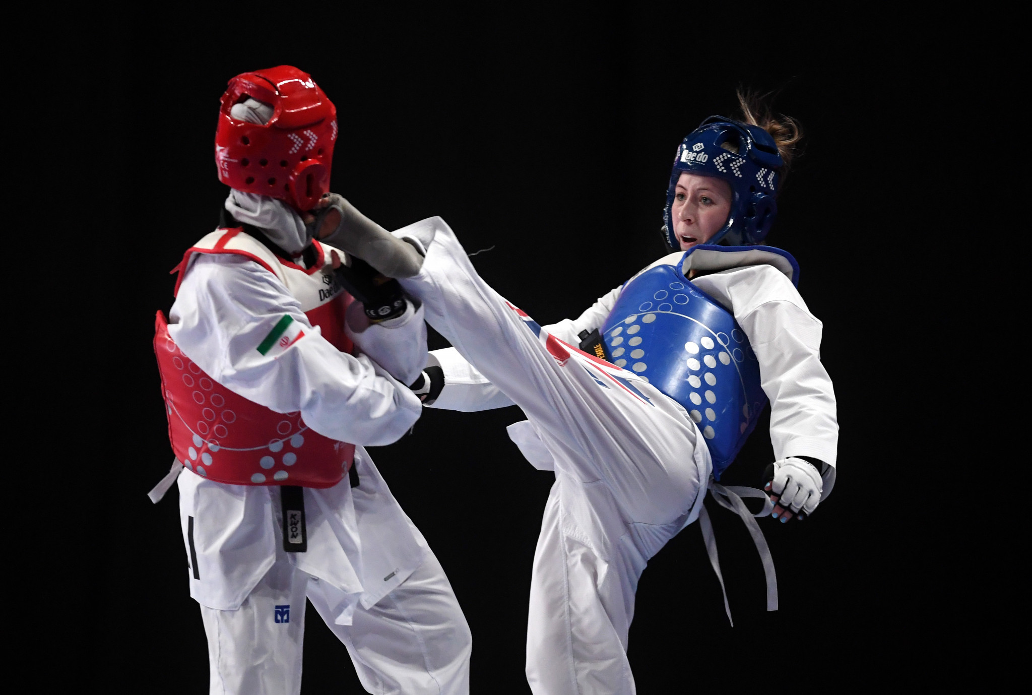 Two-time Olympic champion Jade Jones of Britain progressed to tomorrow's women's under-57kg final ©Getty Images