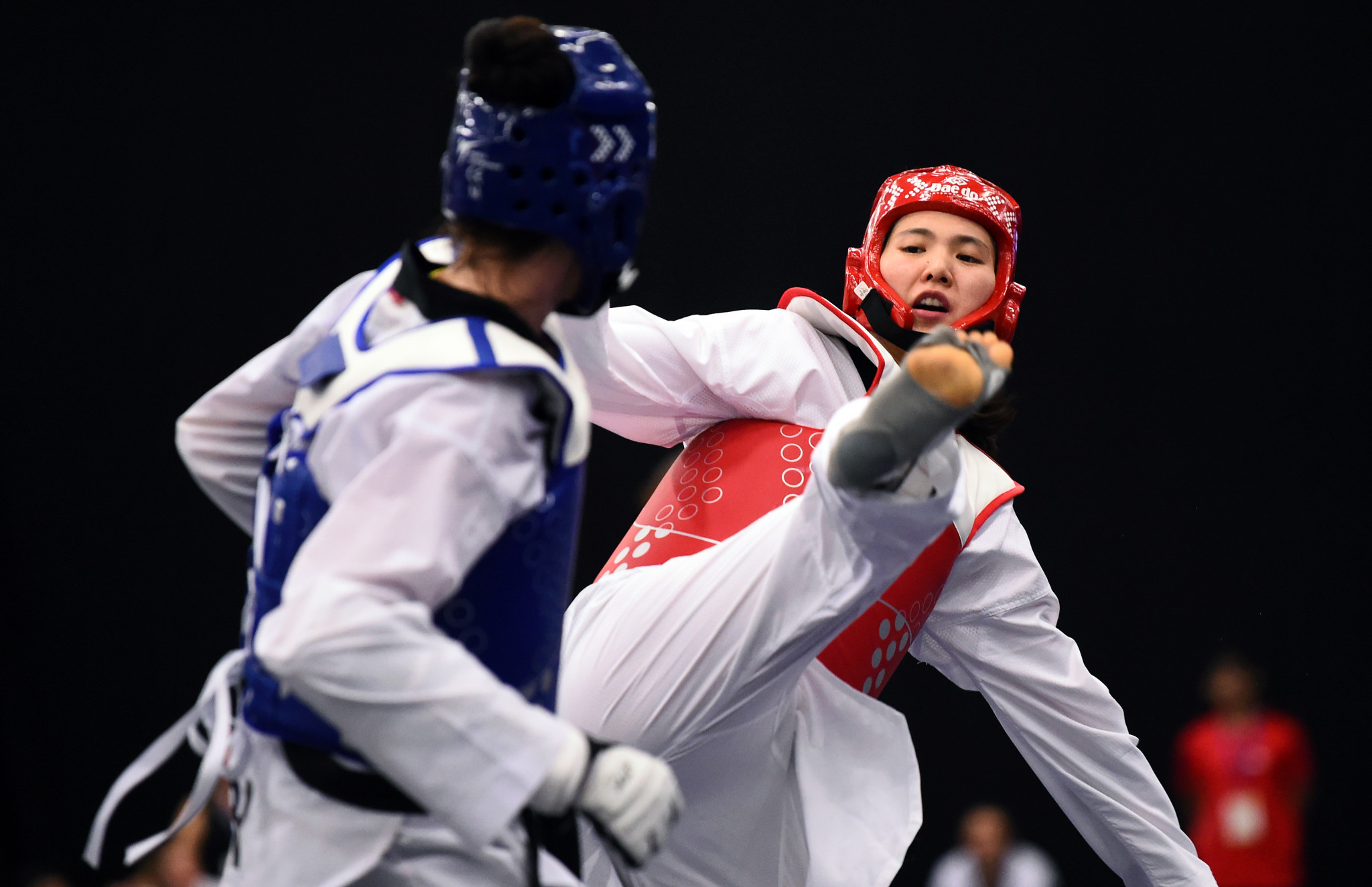 Olympic champion Shuyin Zheng had been dominating the women's over-73kg final against Bianca Walkden ©Getty Images