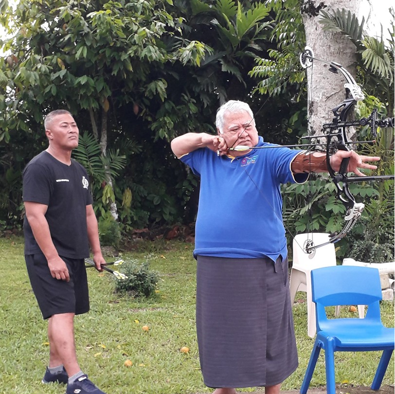 Samoan Prime Minister targets place in archery competition at Pacific Games