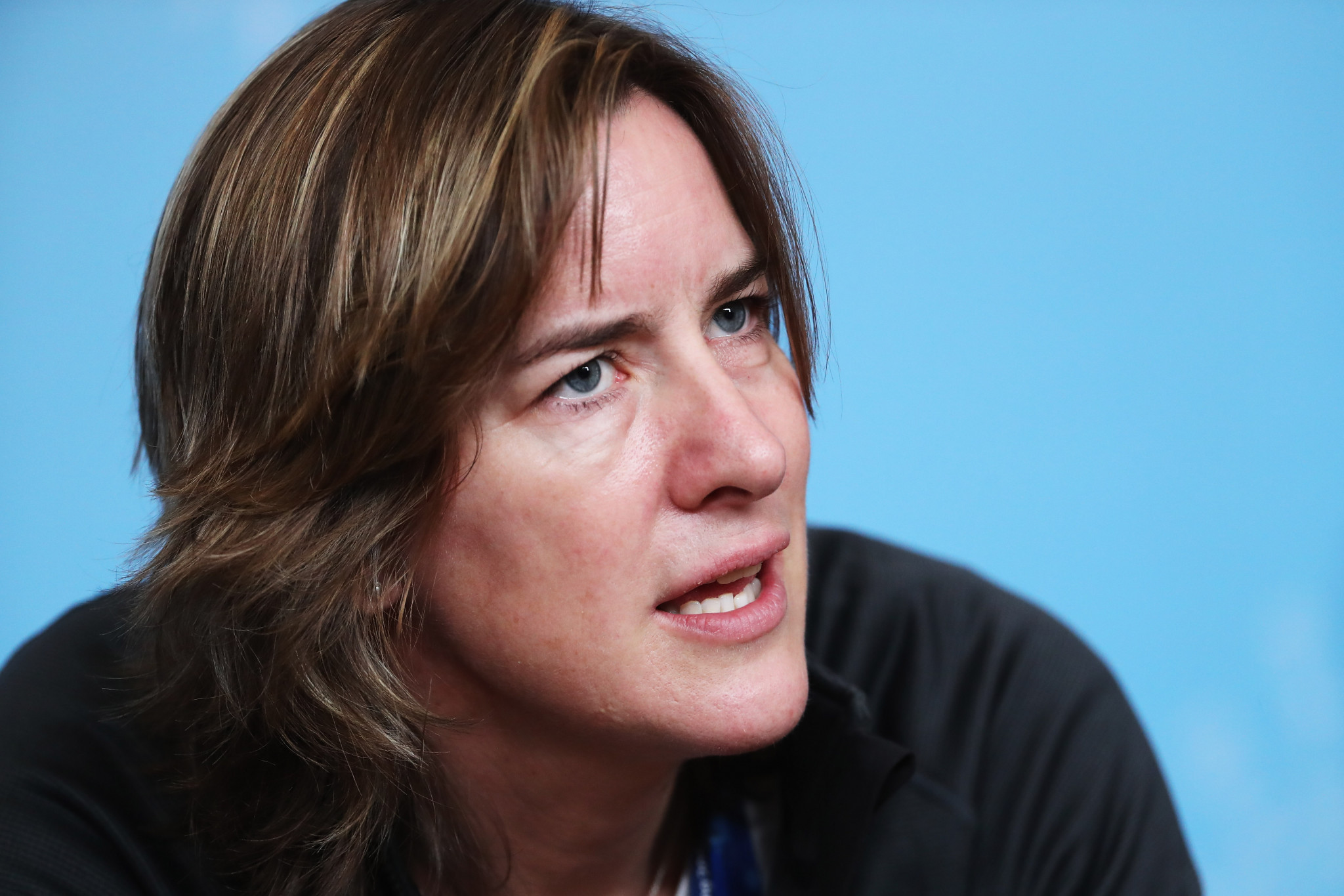 UK Sport chair and four-time Olympic rowing medallist Katherine Grainger spoke at the gender equality breakfast ©Getty Images