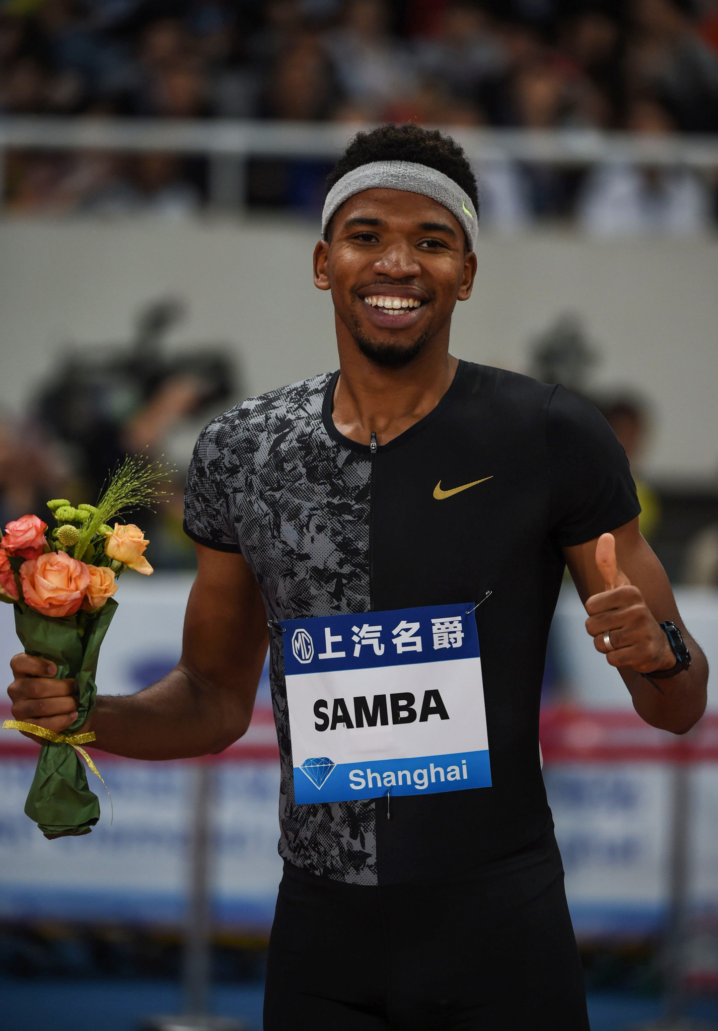 Samba wins first 400m hurdles meeting with Benjamin in Shanghai Diamond League