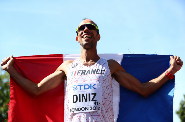 Yohann Diniz, the 41-year-old world record holder for the 50km race walk, will compete in that event at tomorrow's European Race Walking Cup in Lithuania for the first time since he won the 2017 world title ©Getty Images