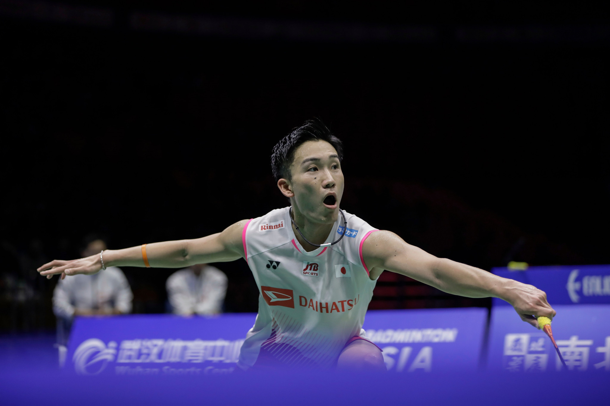 Japan's world champion Kento Momota will lead his team in pursuit of a first Sudirman Cup win in China starting from tomorrow ©Getty Images