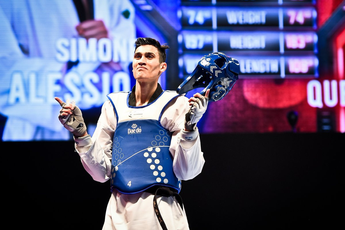 Italy's Simone Alessio won his first world title in the men's under-74kg ©World Taekwondo