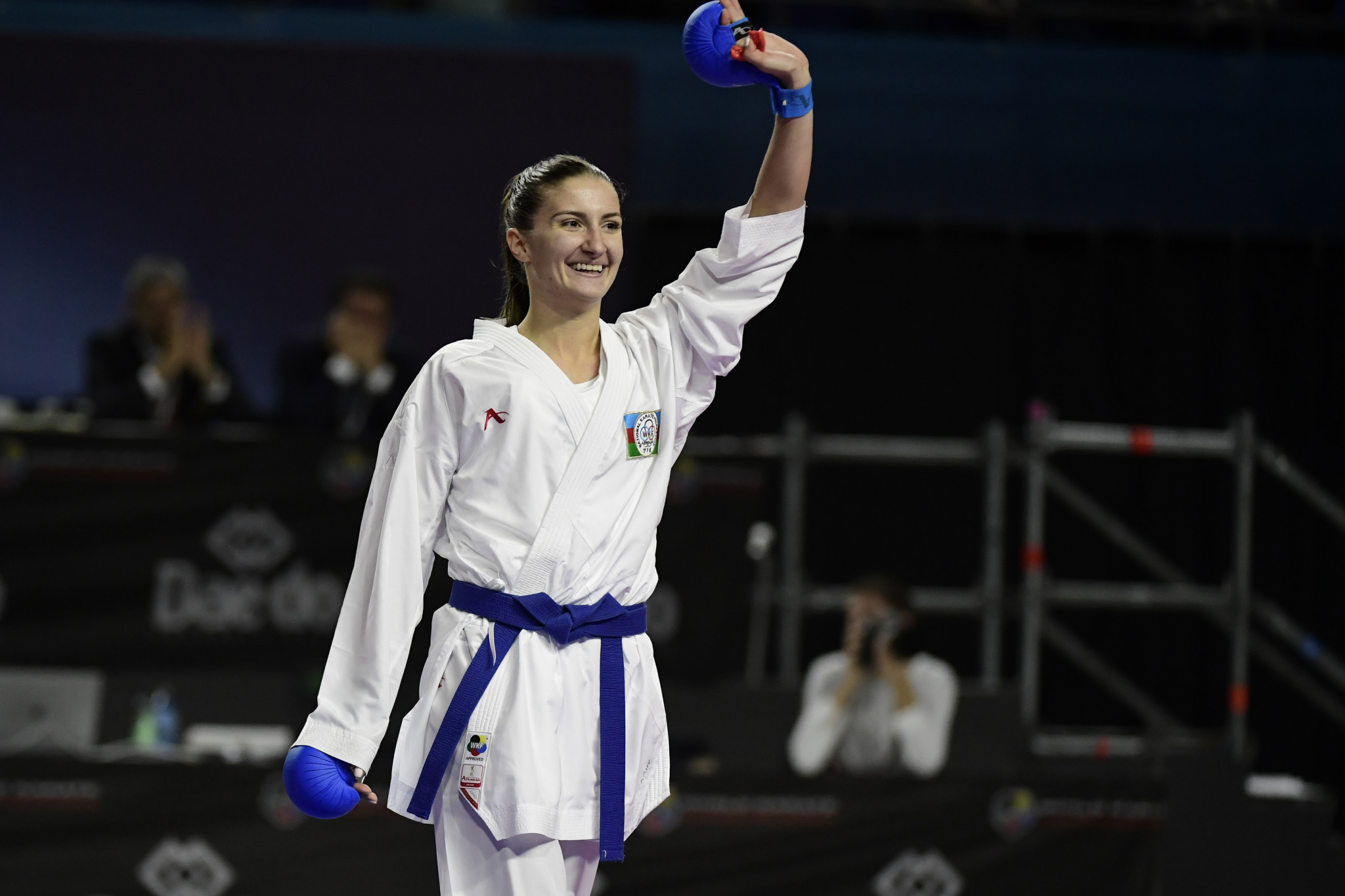 World champion Irina Zaretska of Azerbaijan progressed to the final of the women's under-68 kilograms kumite division in Istanbul ©Getty Images