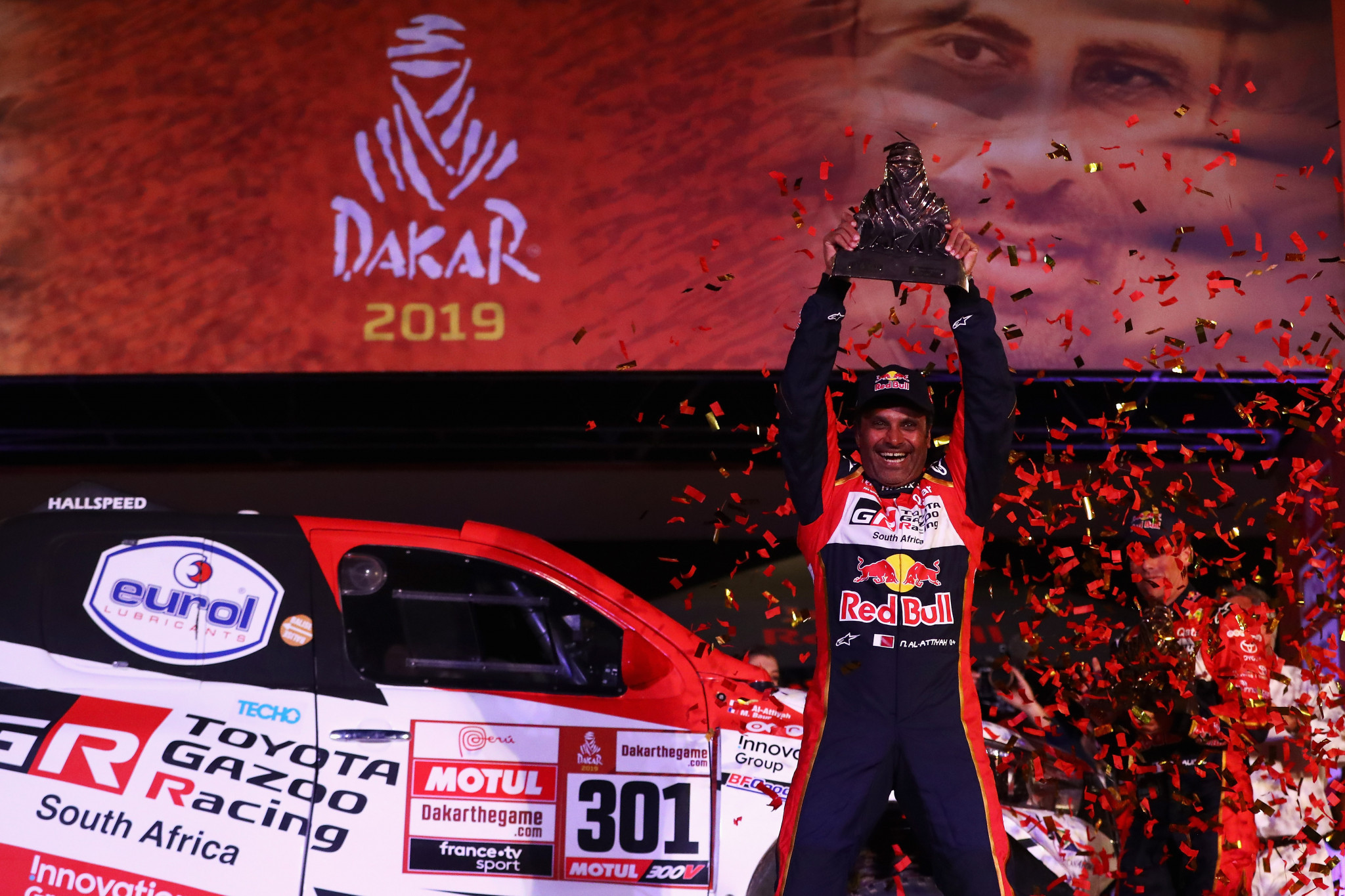 Nasser Al-Attiyah won the Dakar Rally for the third time in January ©Getty Images