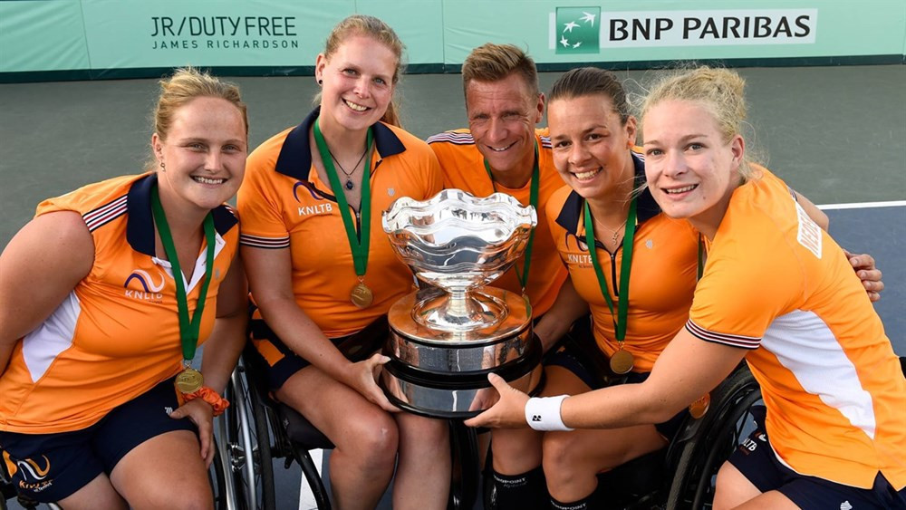 Dutch women win 31st title at ITF World Team Cup as Britain seal men's prize