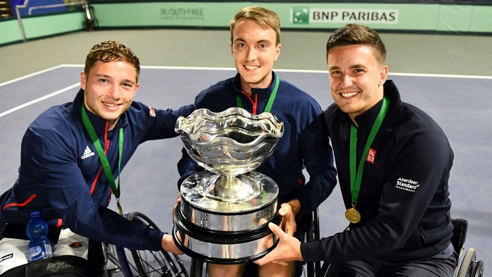 Britain won the men's event after beating France ©ITF
