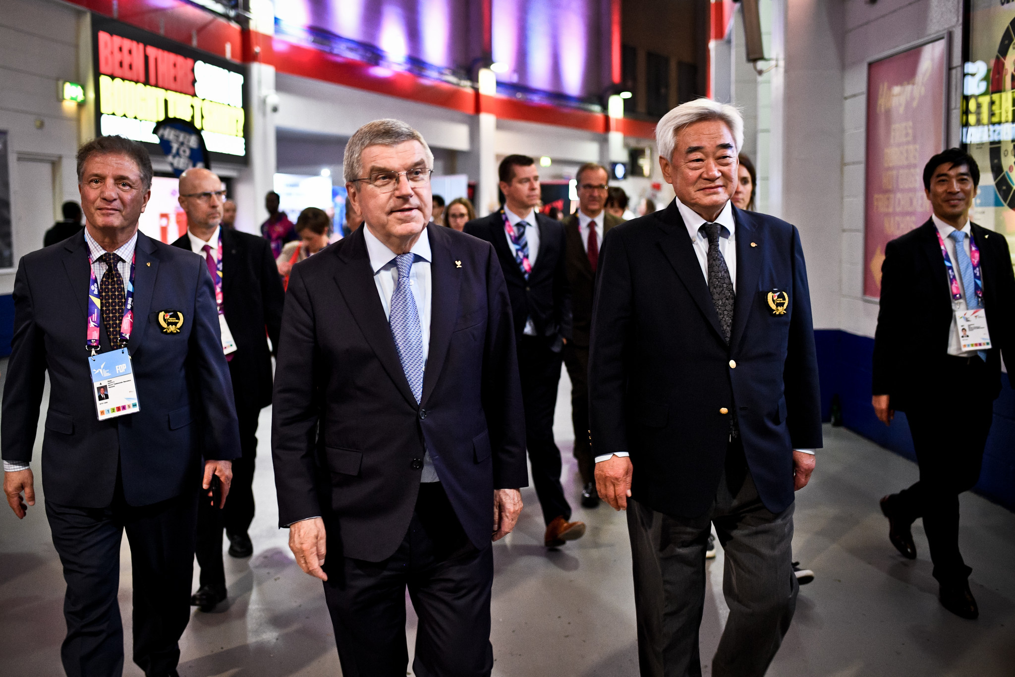 IOC President Thomas Bach visited Manchester Arena for the 2019 World Taekwondo Championships ©World Taekwondo