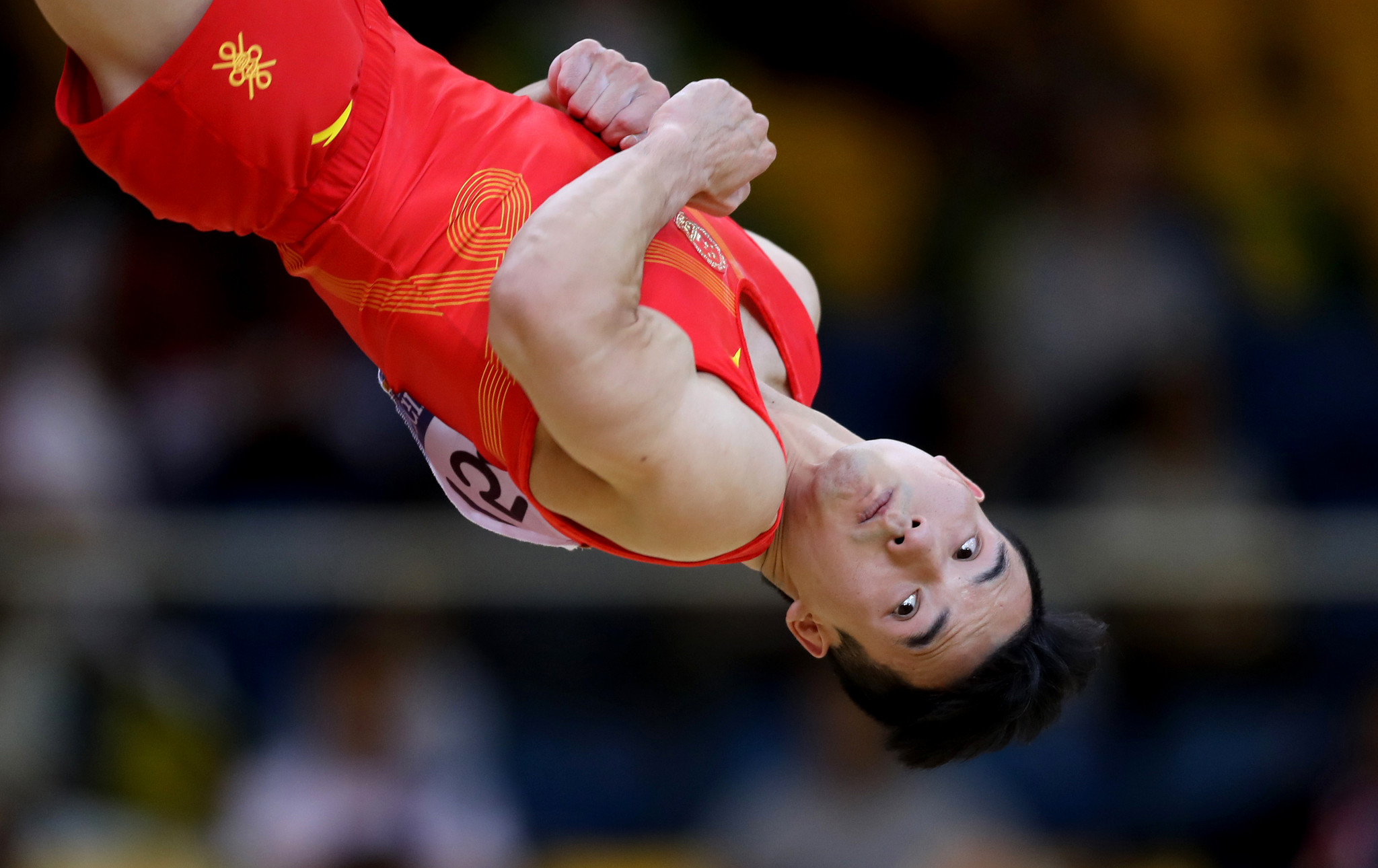 Shudi Deng impressed for the Chinese on the floor ©Getty Images