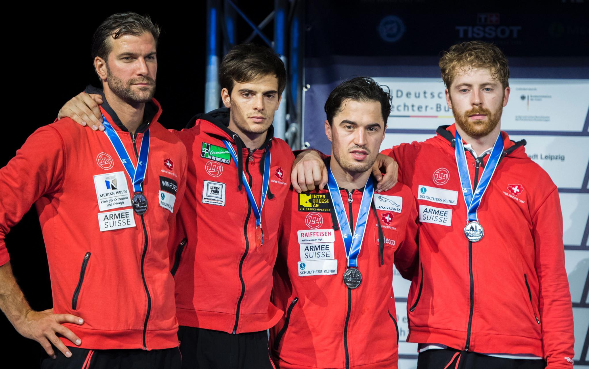 Switzerland beat hosts France to clinch team title at FIE Men's Épée World Cup