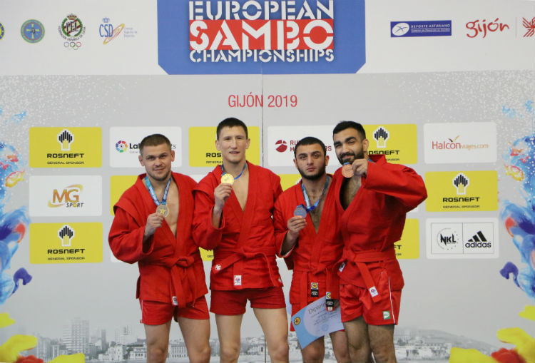 Further success for Russia as European Sambo Championships conclude in Gijón
