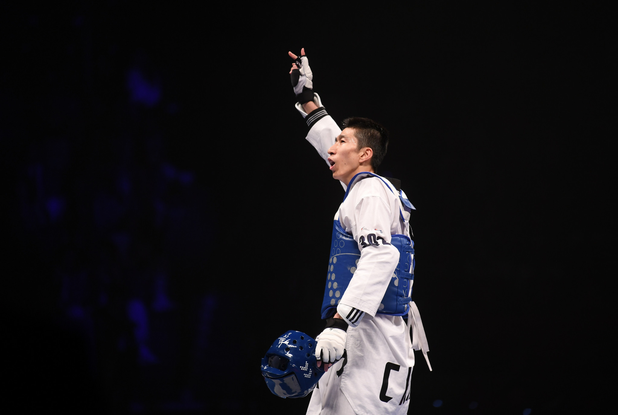 Olympic champion Zhao Shuai retained his world title at the 2019 World Taekwondo Championships ©Getty Images