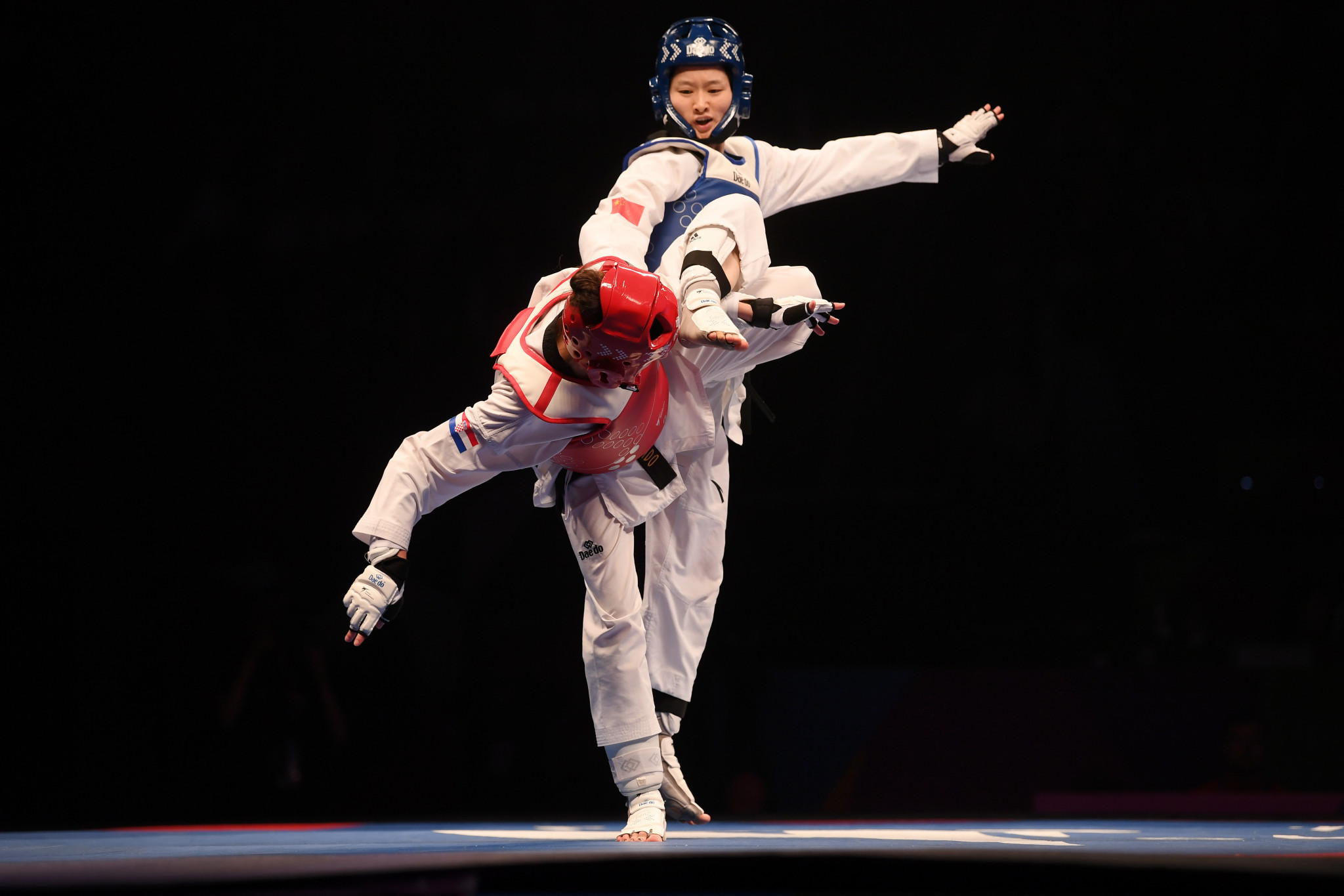 Two-time Olympic and world champion Wu Jingyu has been elected to the World Taekwondo Athletes' Committee ©Getty Images