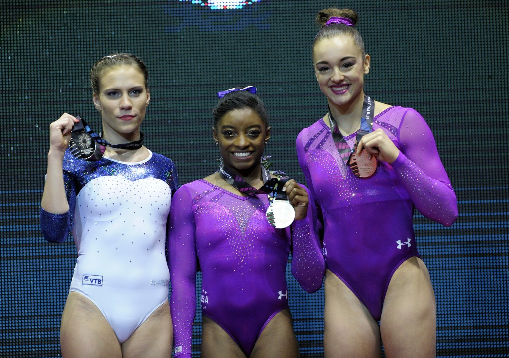 In pictures: 2015 Artistic Gymnastics World Championships final day of competition