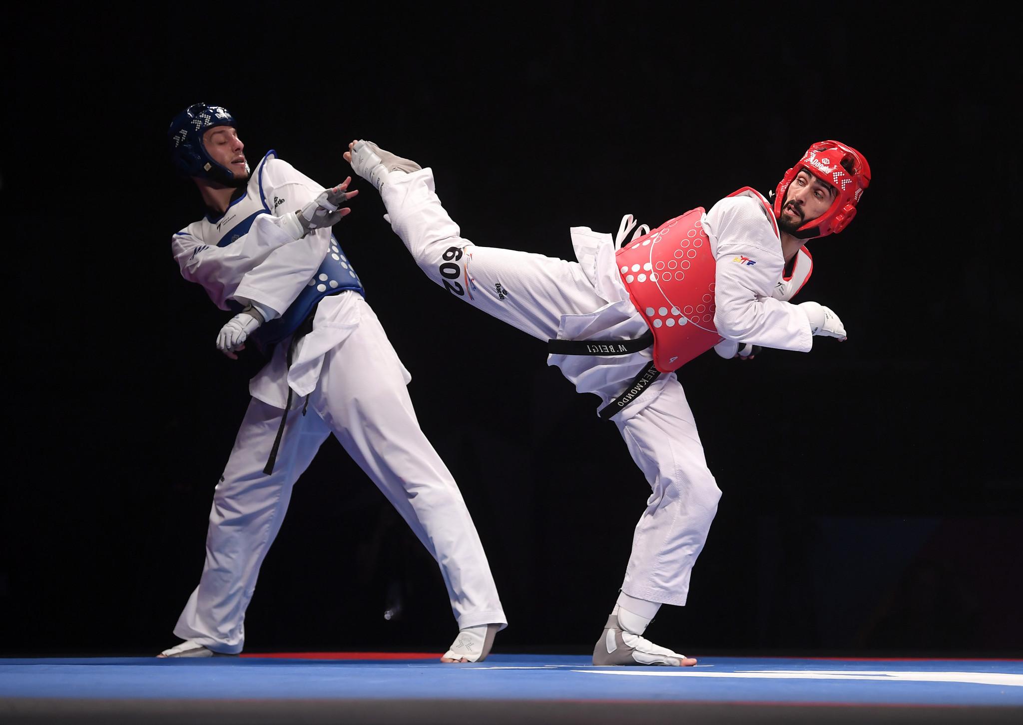 Azerbaijan's Milad Beigi Harchegani successfully defended his men's under-80kg title ©Getty Images
