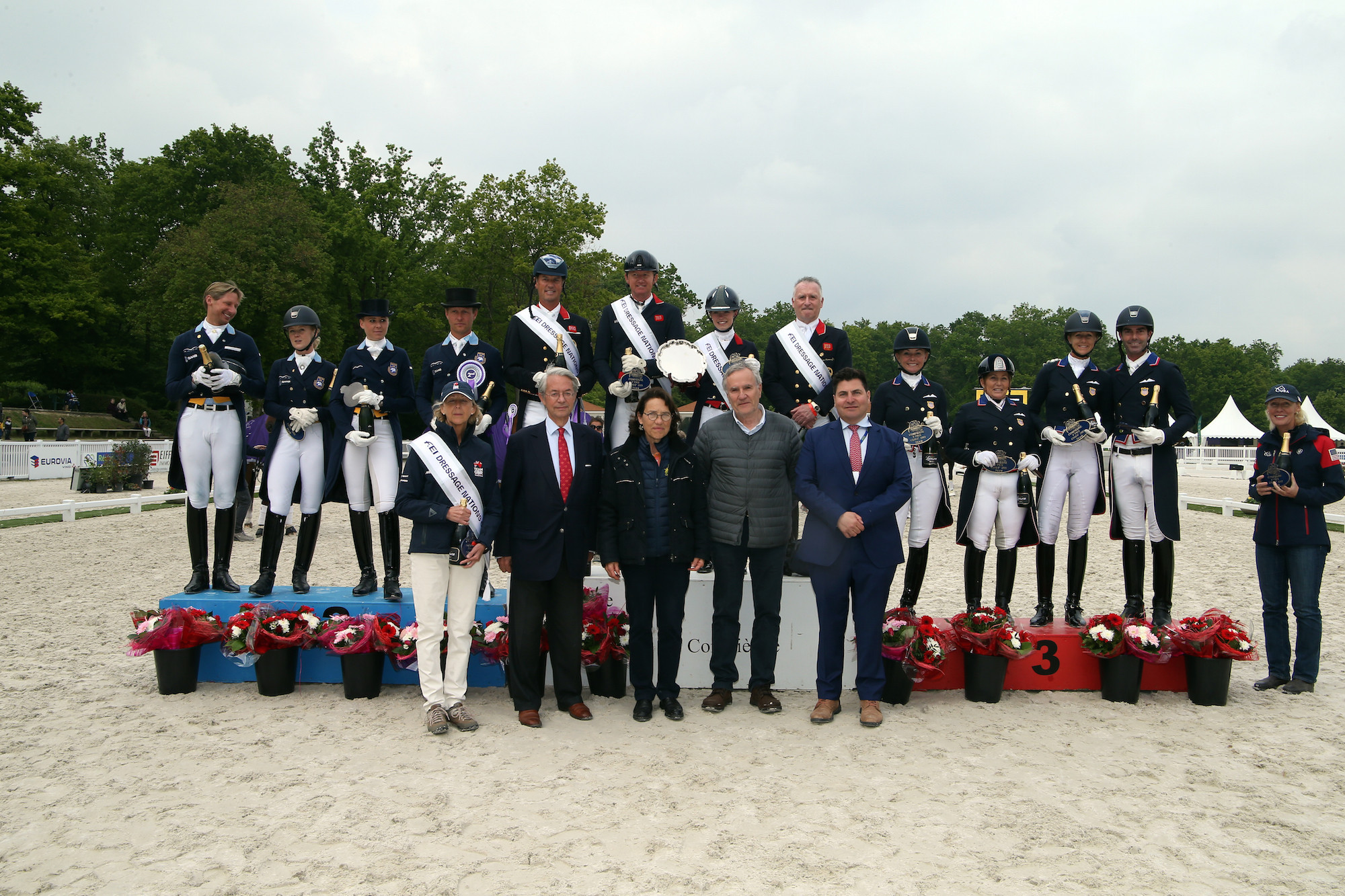 Britain maintained a steady lead before securing victory during the second leg of the series ©FEI